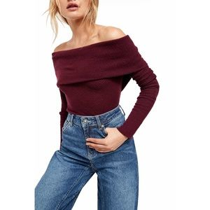 Free People Snowbunny Off The Shoulder Lon…